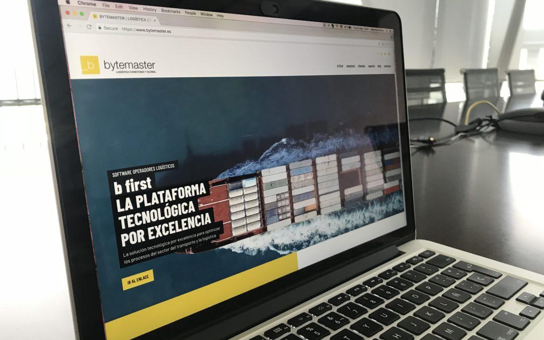 bytemaster estrena nueva web renovando su propuesta de valor hacia una logística conectada y global